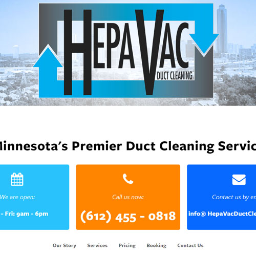 Hepa Vac Web Design